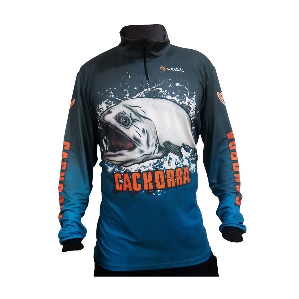 Camiseta De Pesca By Aventura Cachorra 1701
