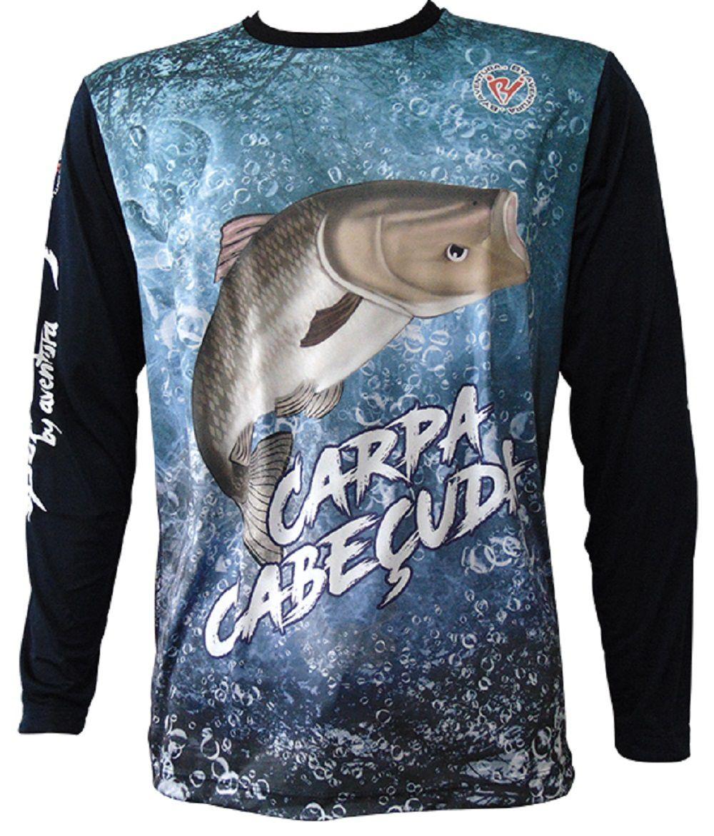 Camiseta de Pesca By Aventura Carpa Cabeçuda