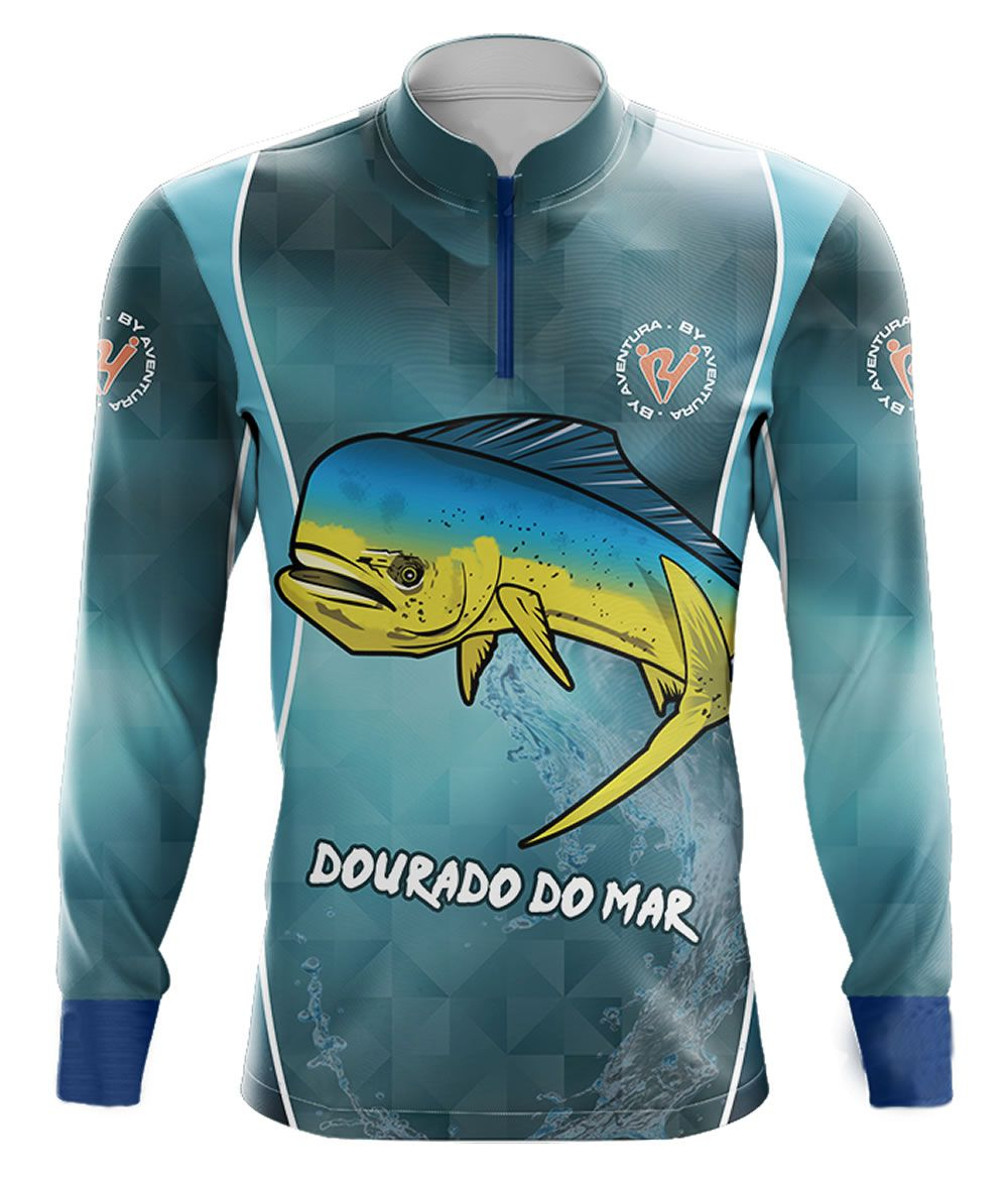 Camiseta de Pesca By Aventura Dourado do Mar - 2002