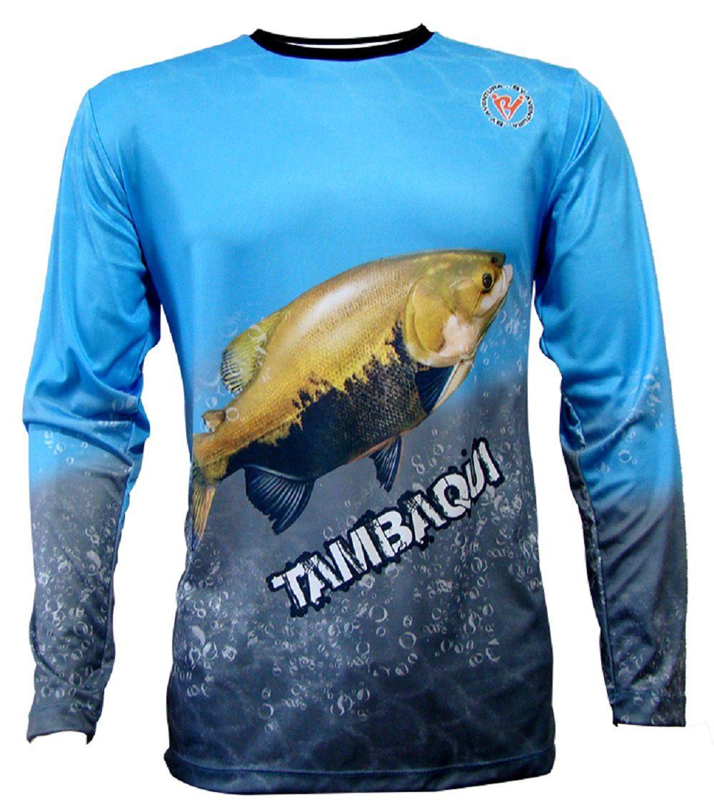 Camiseta De Pesca By Aventura Tambaqui Azul 1802