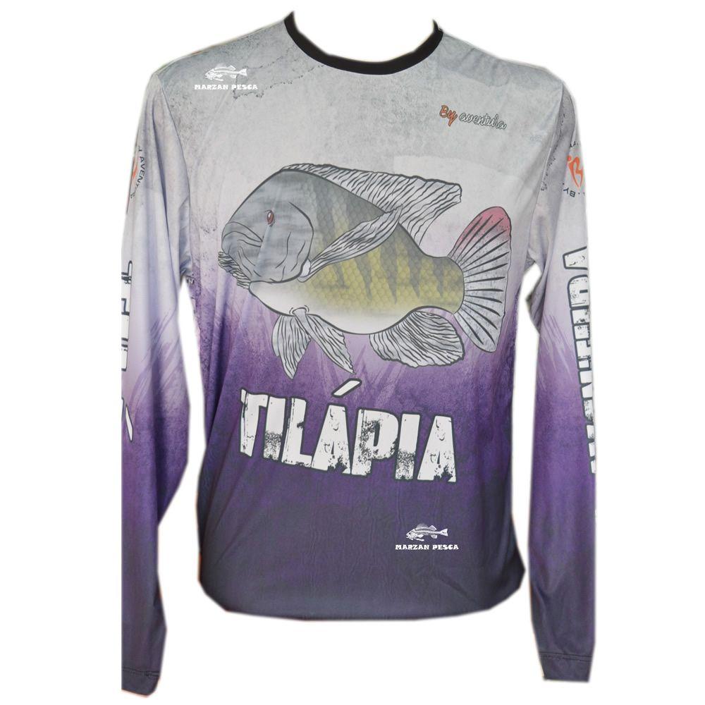 Camiseta De Pesca By Aventura Tilápia 1704