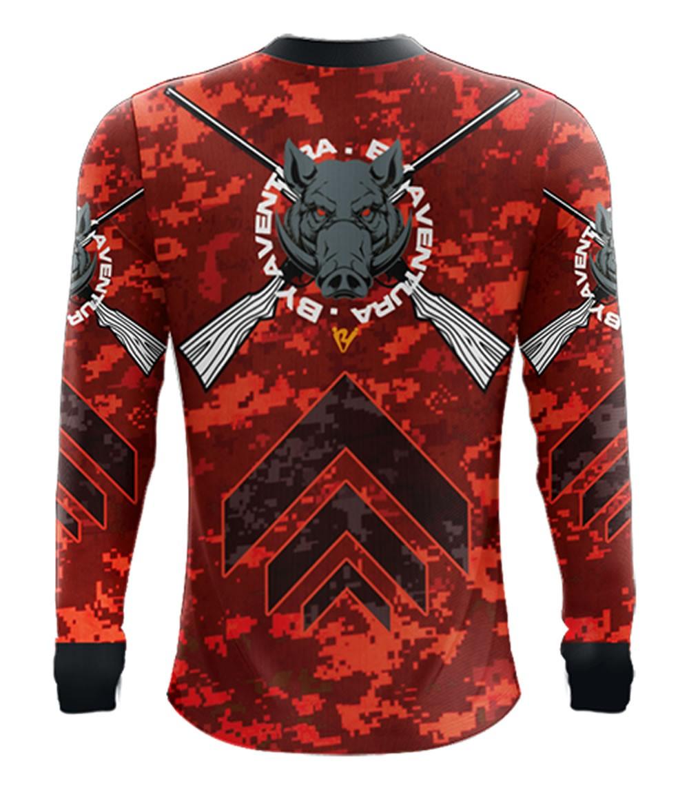 Camiseta de Pesca Camuflado Red By Aventura - 2016