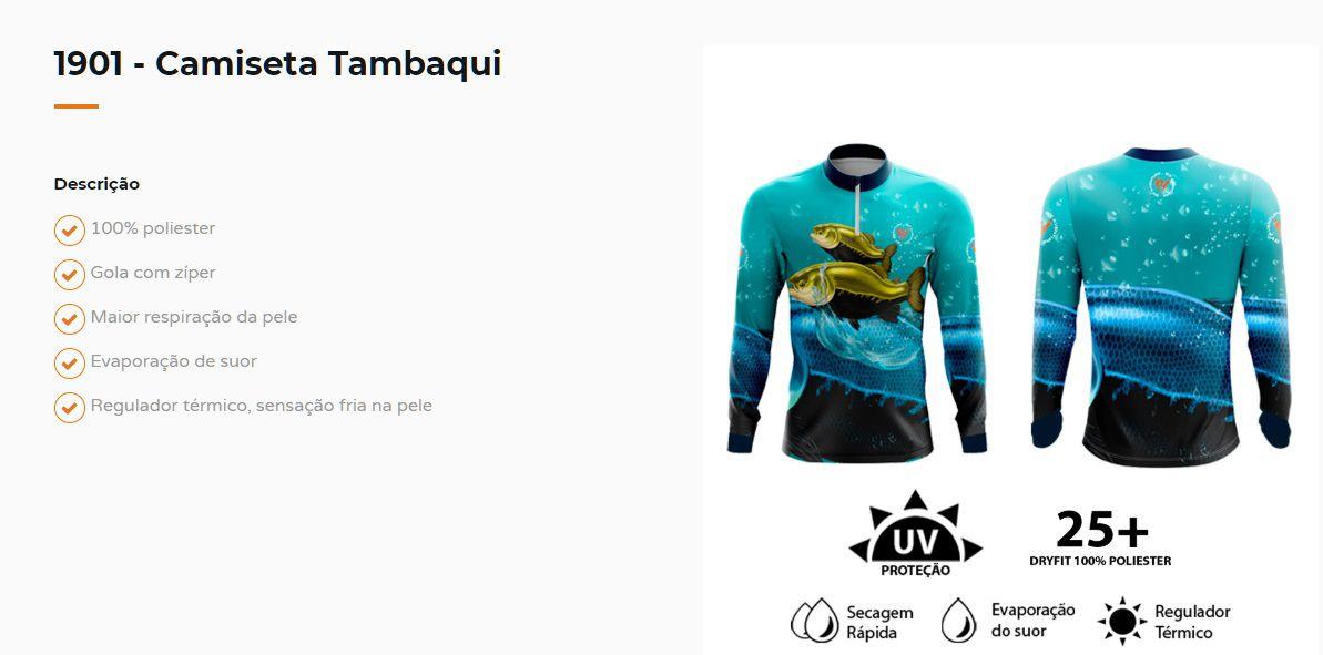 Camiseta de Pesca Tambaqui By Aventura - 1901