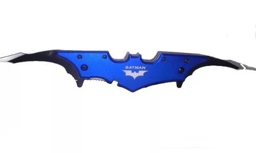 Canivete Batman Formato Morcego 2 Lâminas Azul