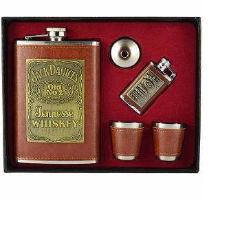 Cantil de Bolso Porta Bebida Whisky Isqueiro