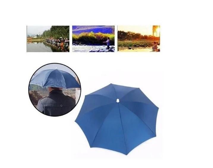 Chapéu Guarda-chuvas Cor Azul Unissex Asb 67cm De Diâmetro