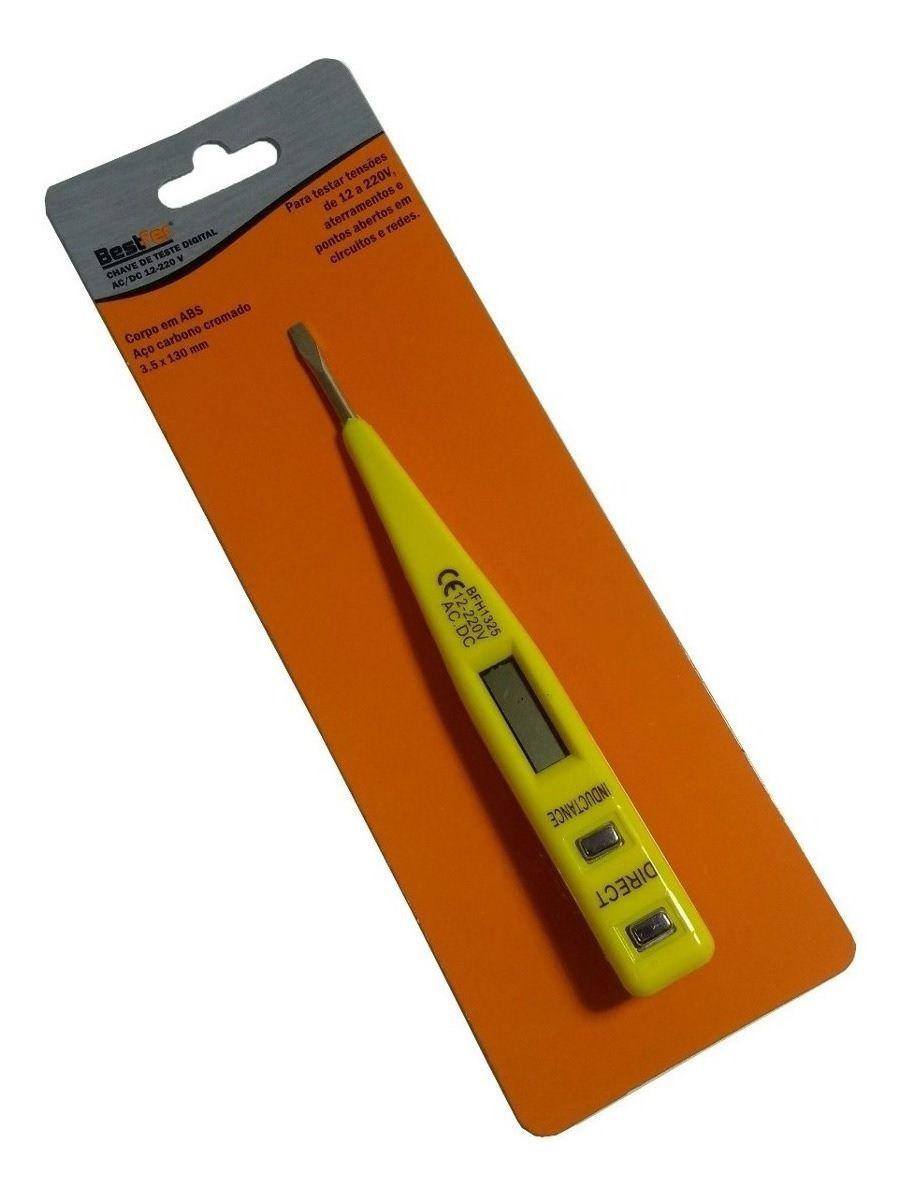 Chave de Medir Tensão Digital Ac/Dc  - 12 A 220v