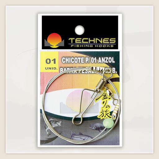 CHICOTE PARA PESCA 100LB P/ 01 ANZOIS - C/ 01 UNID