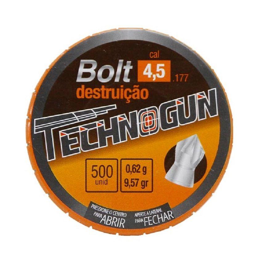 Chumbinho Technogun Bolt Destruição 4.5mm