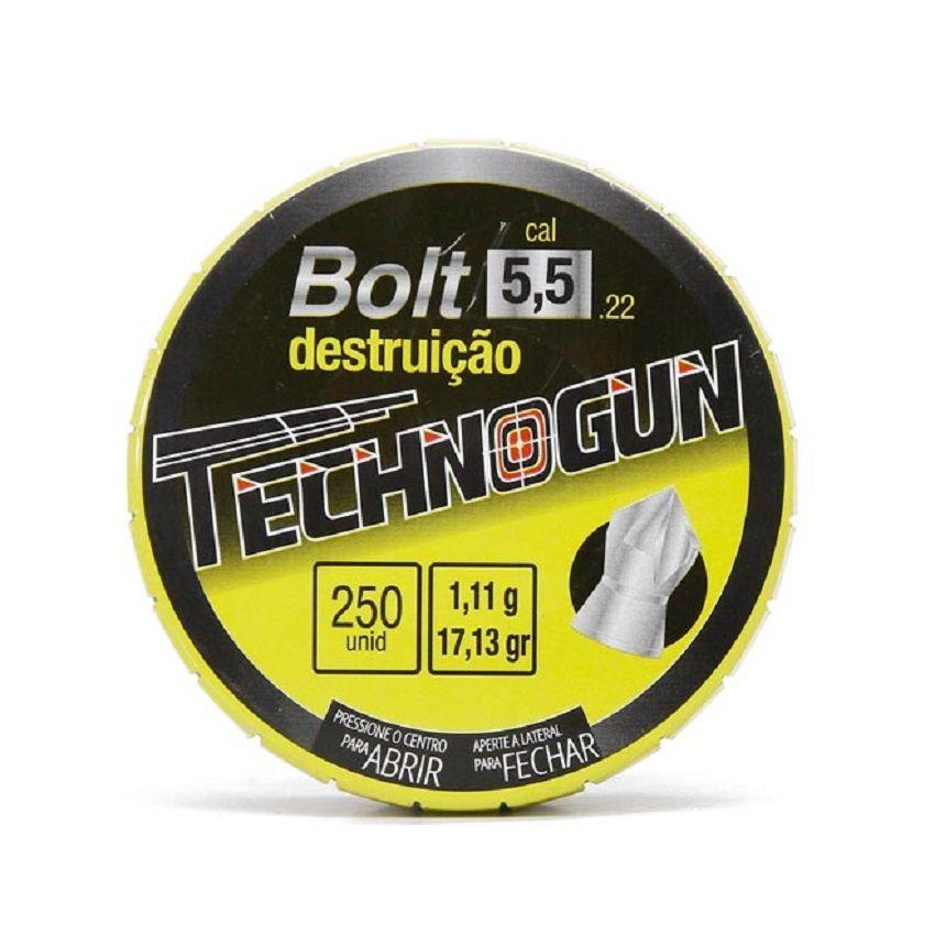 Chumbinho Technogun Bolt Destruição 5.5mm