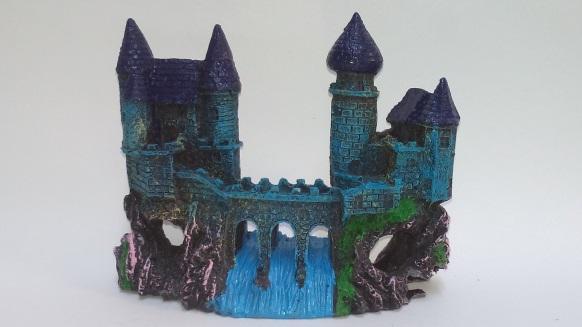 Enfeite Aquario Castelo com Ponte da Montanha