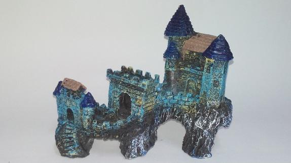Enfeite Castelo Blue na Rocha CB-30