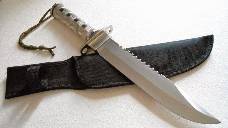 Faca Militar Rambo - Kit de Sobrevivência Mod. SLK-450
