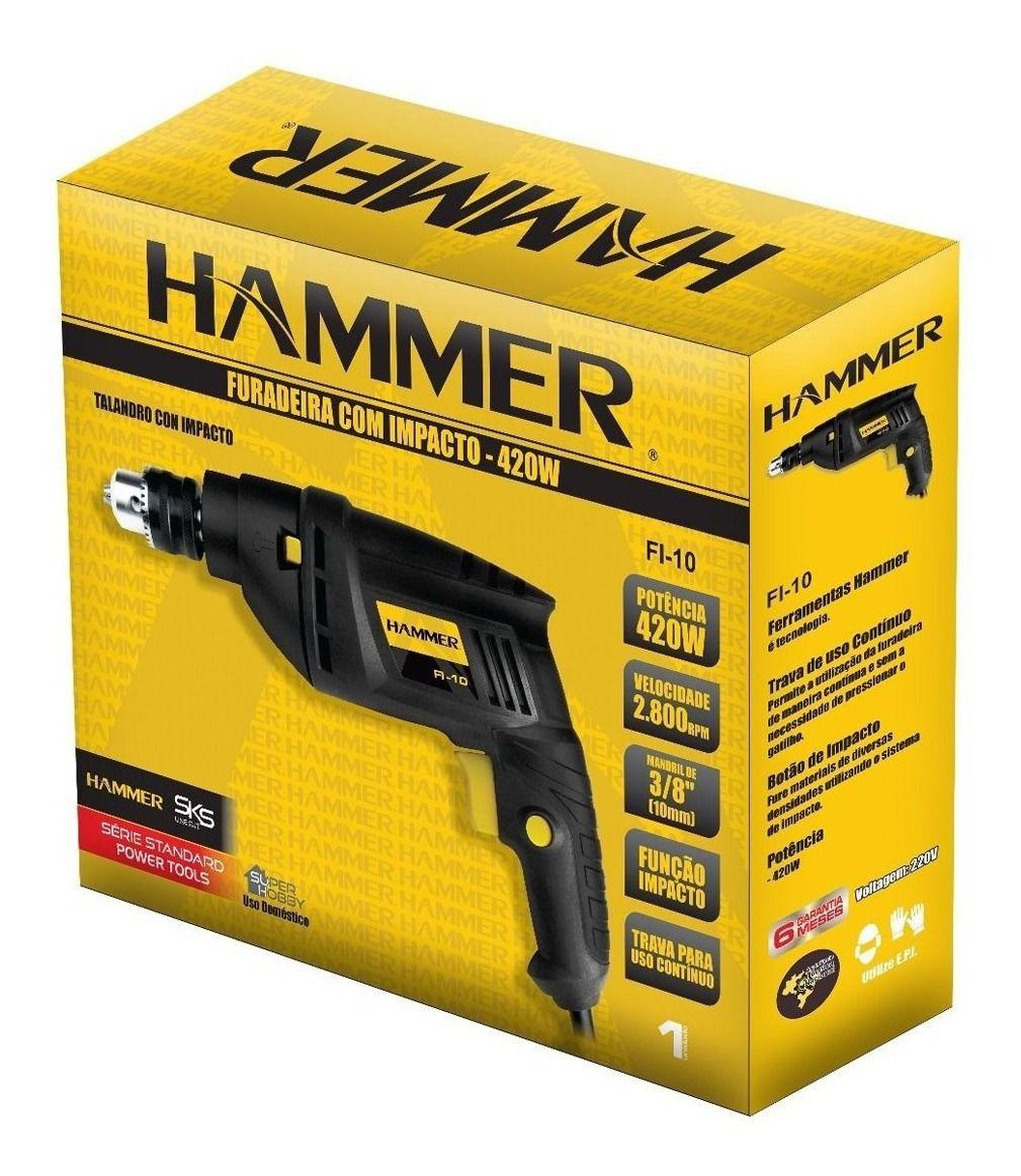 Furadeira de Impacto Hammer 550w FI-10 - 127V
