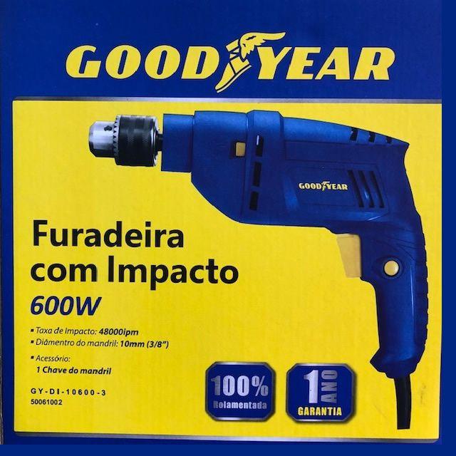 Furadeira Goodyear 600w 3/8 127v