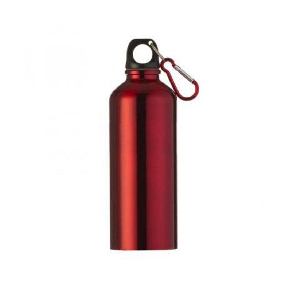 Garrafa Squeeze 500 ml Alumínio Com Mosquetão