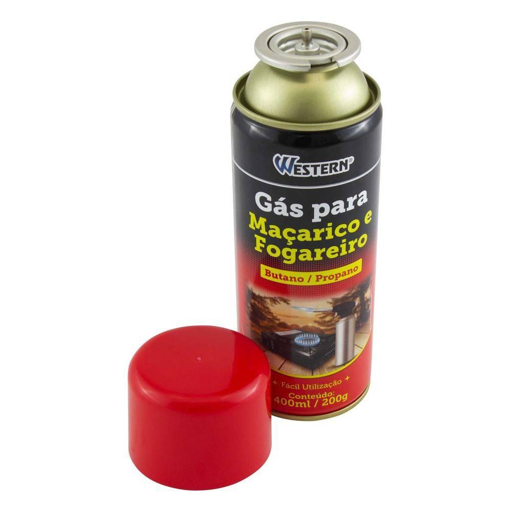 Gás para Maçarico e Isqueiro Western 400 ml
