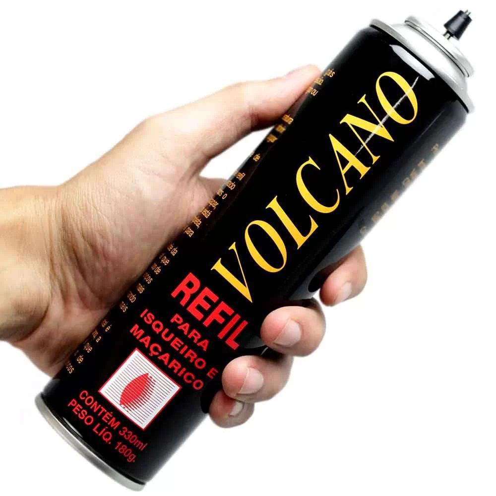 Gás Refil Para Isqueiro Maçarico Volcano 330 mL