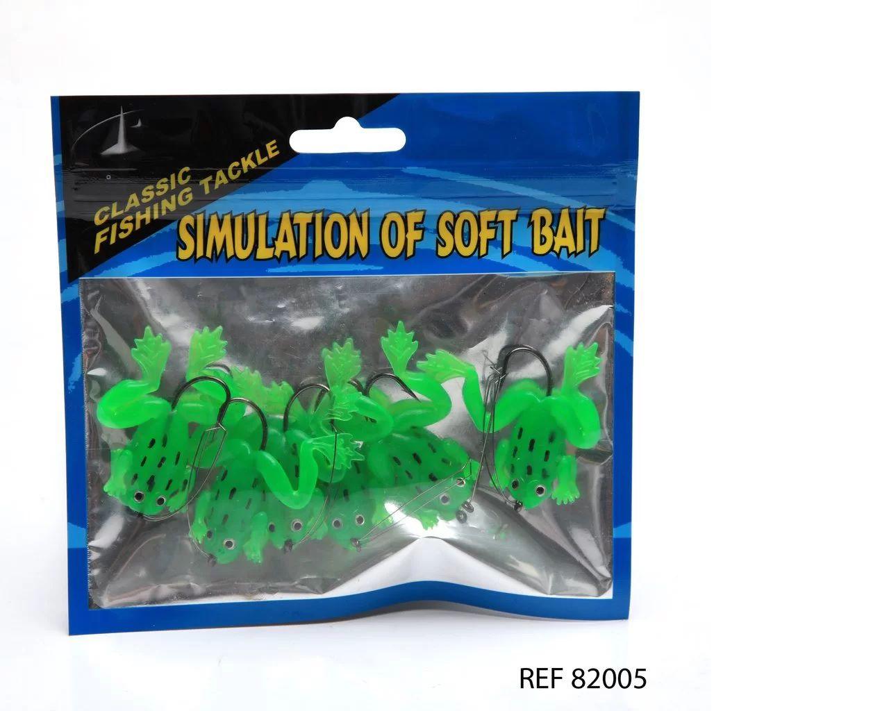 Isca Artificial Sapos Silicone Anzol Anti-enrosco - 6 Peças
