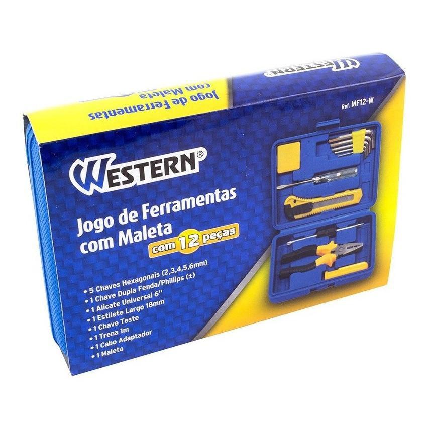 Jogo De Ferramentas 12 Peças - MF12 - Western