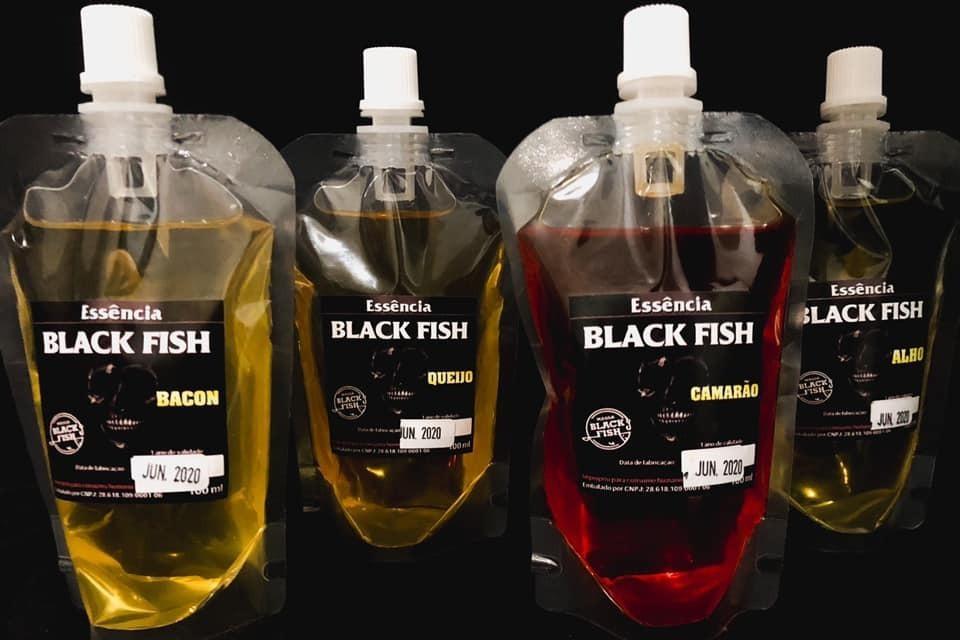 Kit 04 Essências Black Fish - Camarão, Alho, Bacon E Queijo