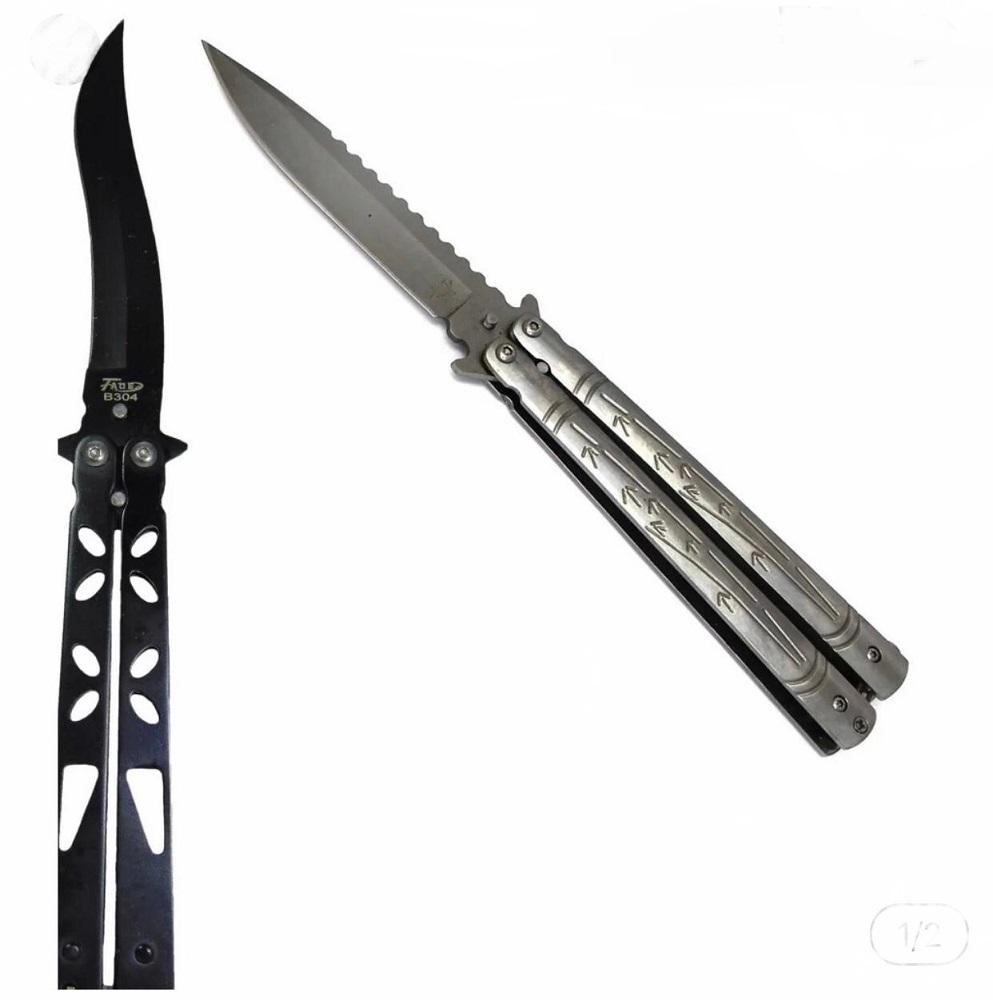 kit 2 Canivete Butterfly Lâmina Ondulado+Butterfly