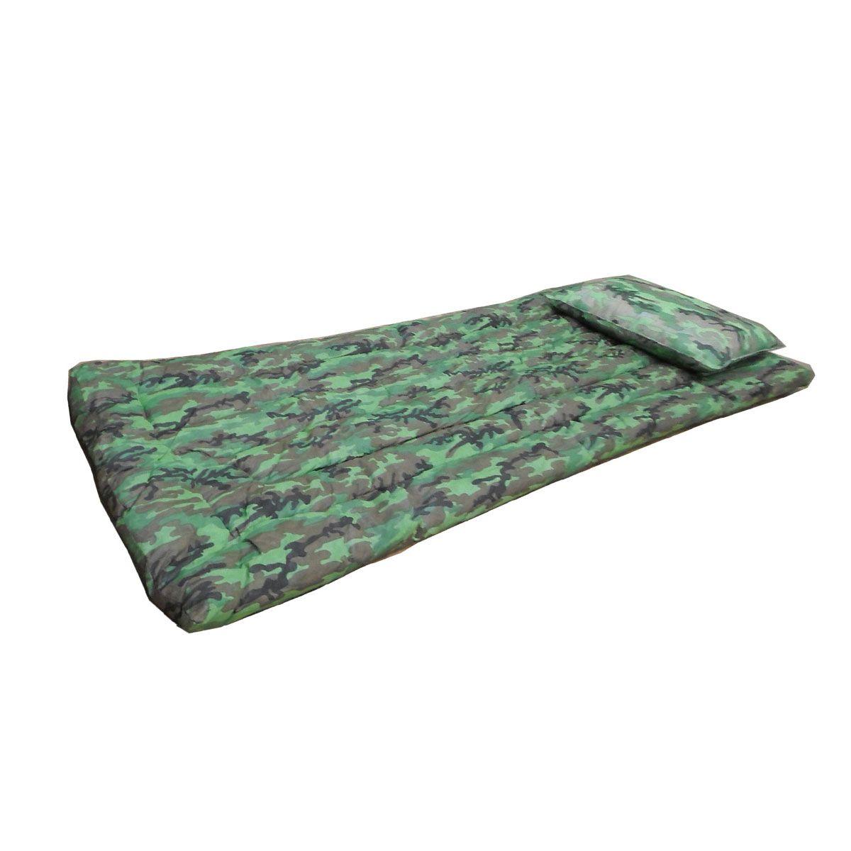 Kit Camping colchonete + travesseiro - camuflado