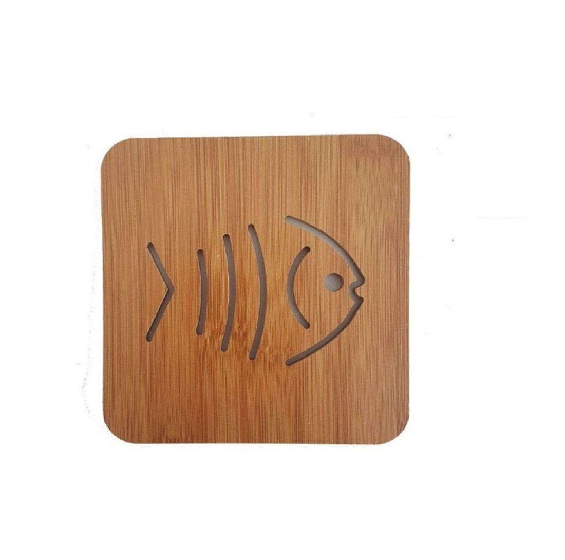 Kit Descanso de Panela Peixe Personalizado - 03 peças