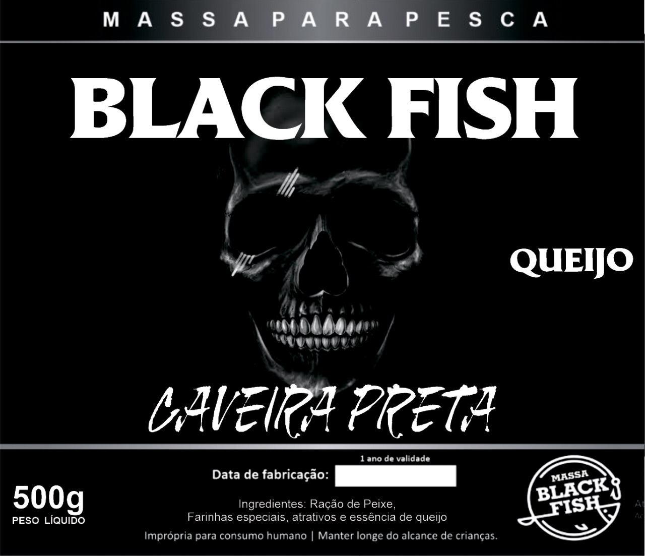 Kit Massas Black Fish Caveira Preta Bacon-queijo-alho-p45