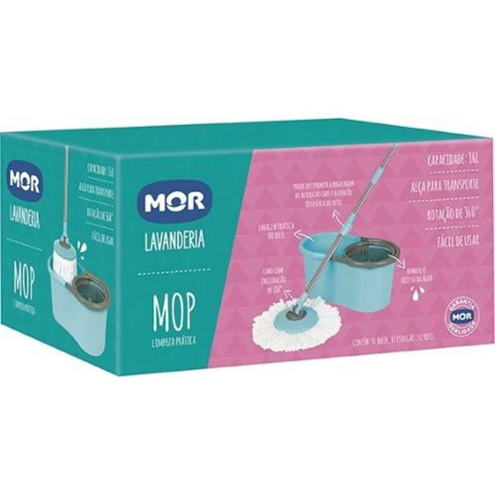 Kit Mop Esfregão De Microfibra - Com Refil - Mor