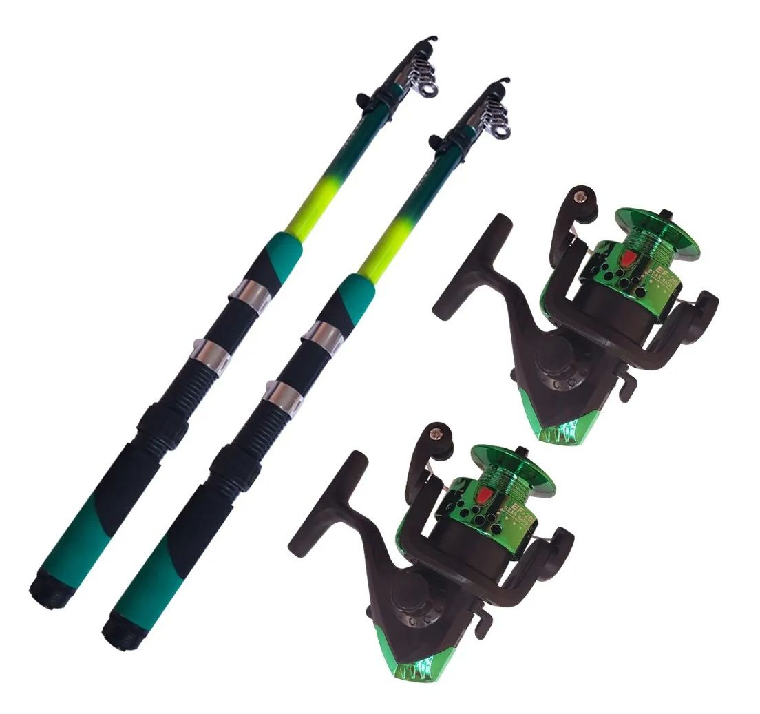 Kit Pesca Molinete E Vara De Pesca Ultra Leve 170cm 2 Unid