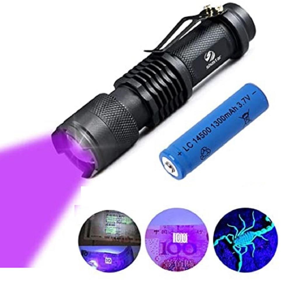 Lanterna de Luz Negra Recarregável USB