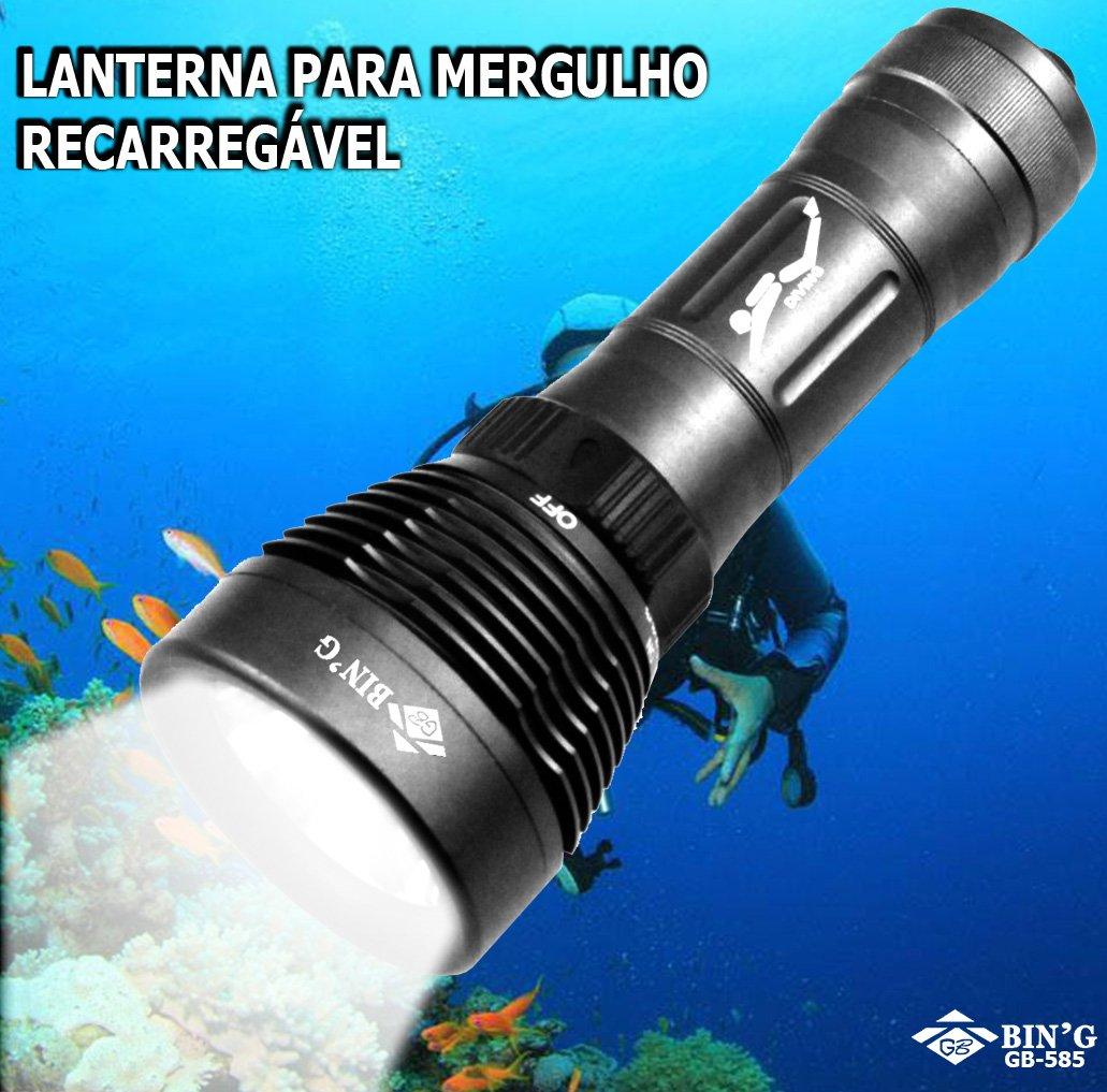Lanterna de Mergulho Led XM-L2 - GB-585