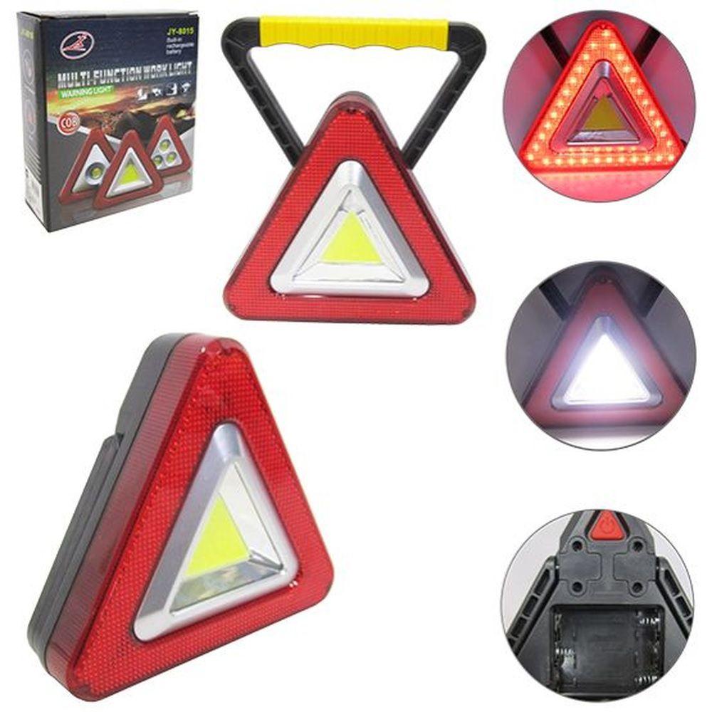 Lanterna Luminária Modelo Triangulo Com Led A Pilha