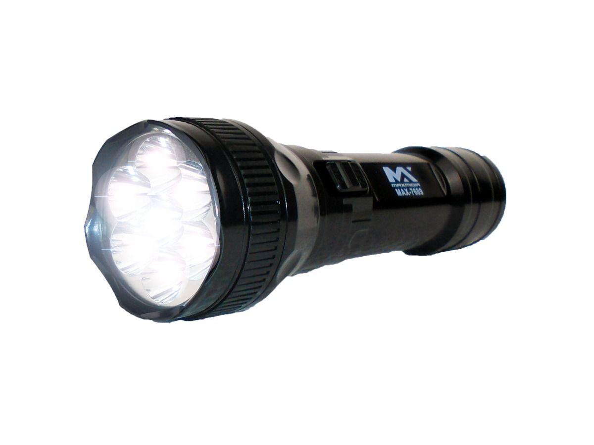 Lanterna Recarregavel Maxmidia - 9 Leds