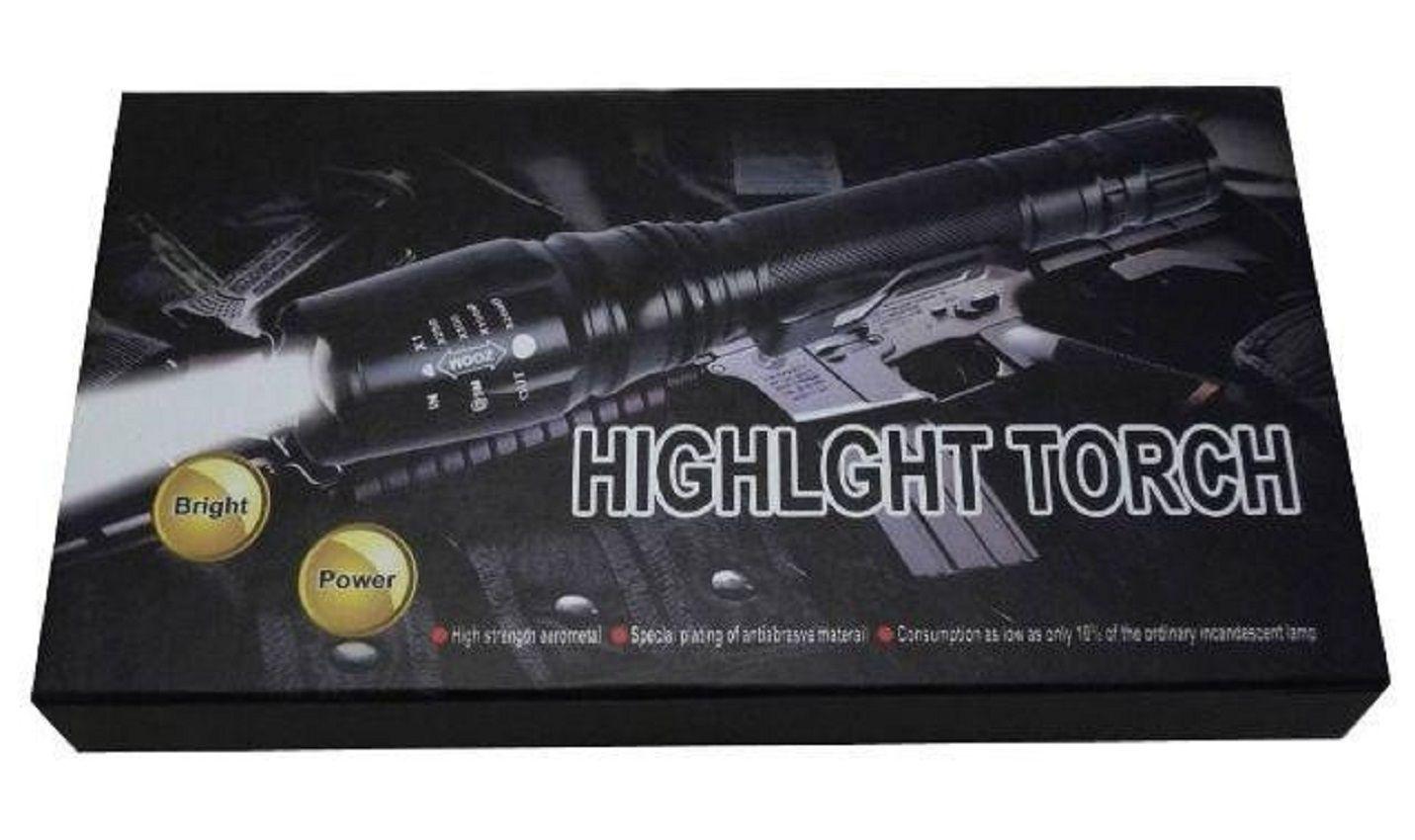 Lanterna Tática Cree Led T6 - 02 Baterias