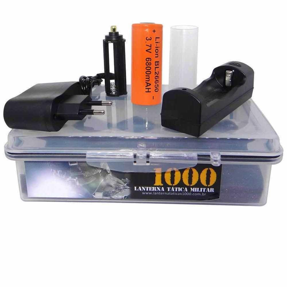 Lanterna Tática Militar X1000 Led T6