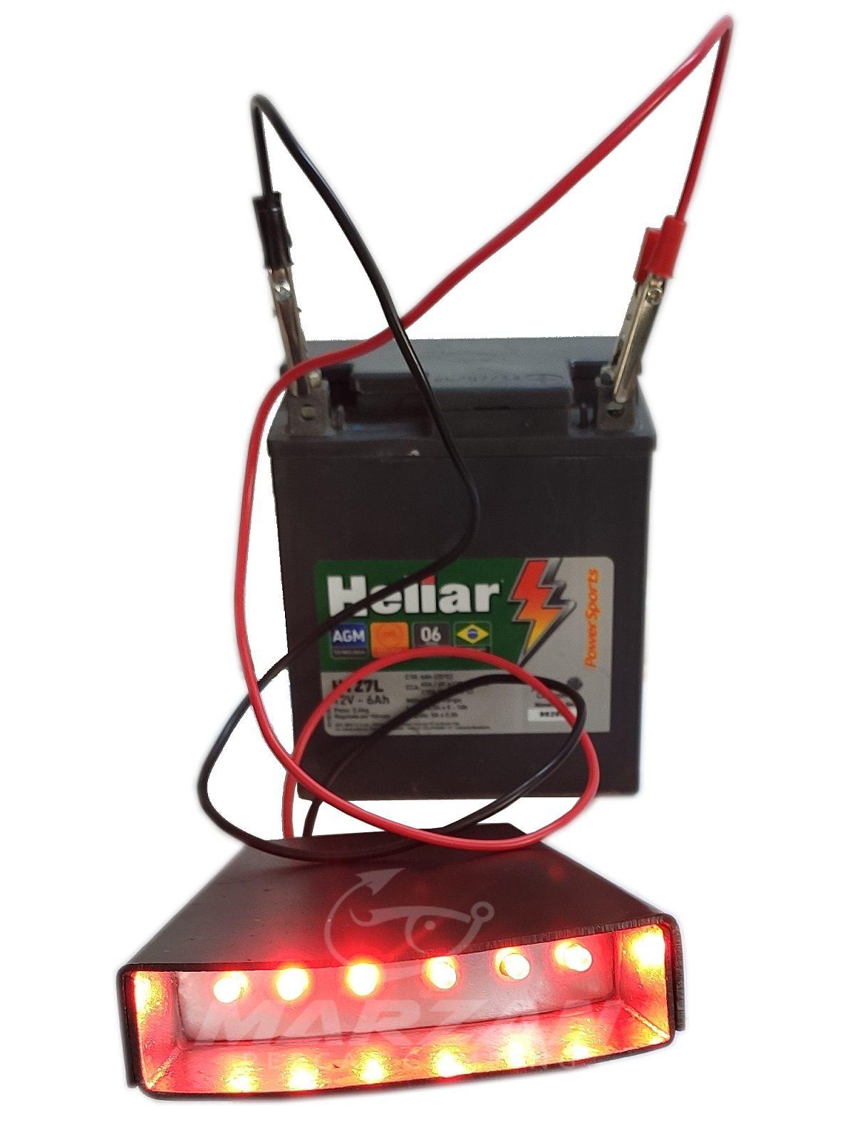 Lanterna Tilapeiro - 06 Leds - A bateria