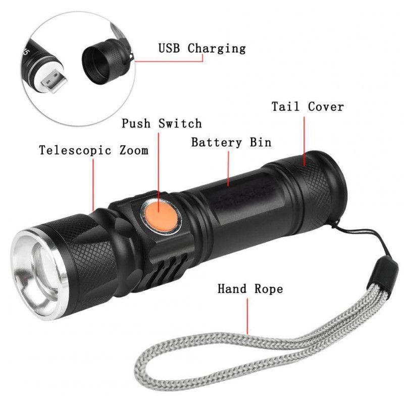 Lanterna USB Tática Led St515