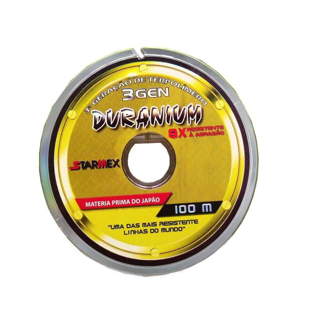Linha De Pesca Starmex Duranium Yellow 100 Metros