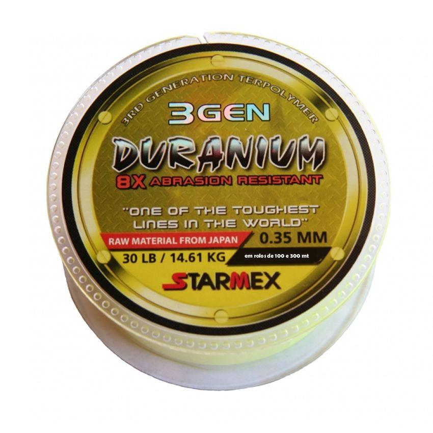 Linha De Pesca Starmex Duranium Yellow 300 Metros