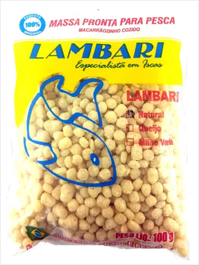 Macarrao Para Pesca Lambari -  100 Gr