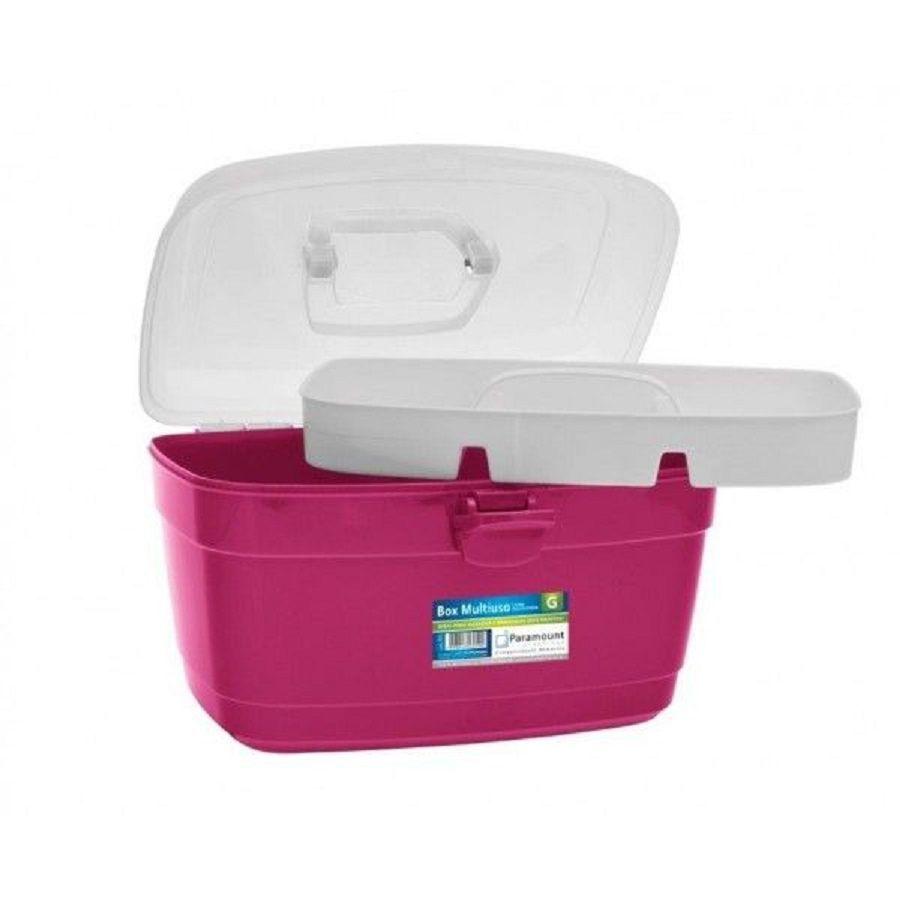 Maleta Box Multiuso Com Divisória Rosa Paramount
