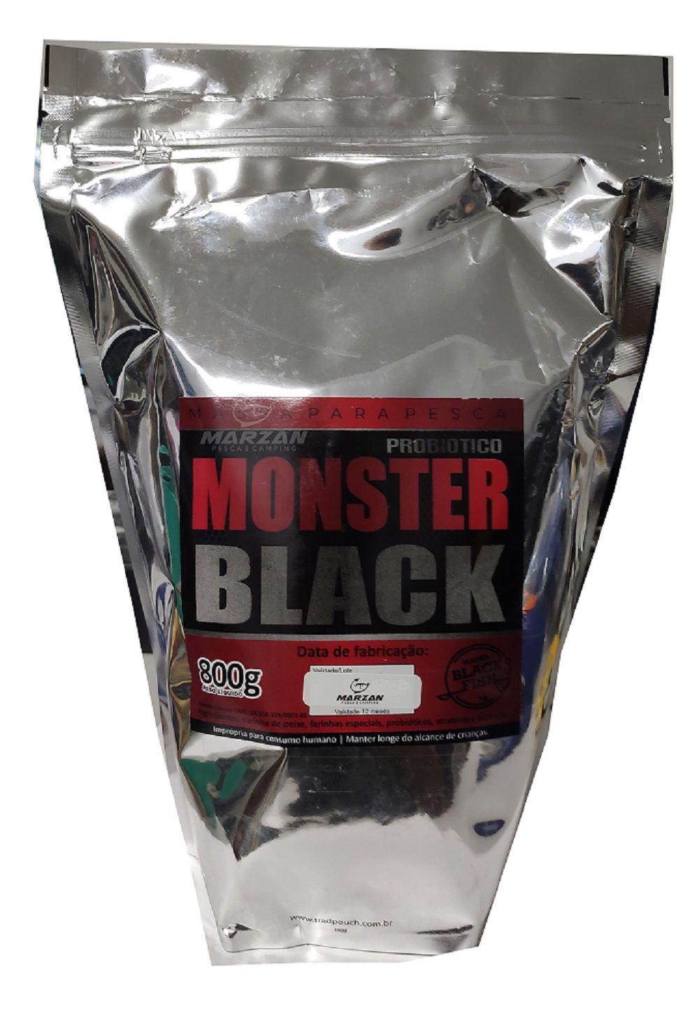 Massa Black Fish Monster Black - 800 gr