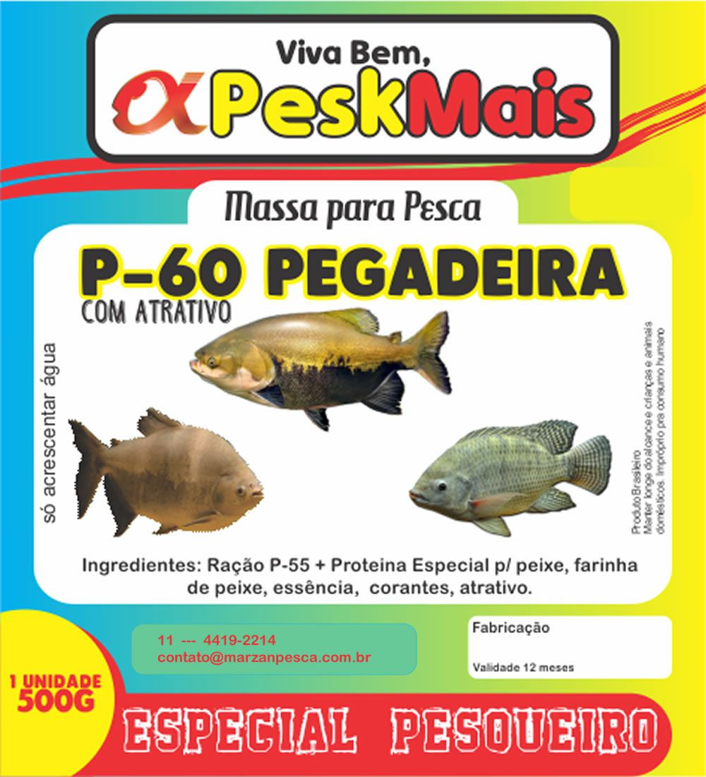 Massa Para Pesca Pesk Mais P 60 500 gr