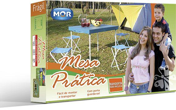 Mesa Prática Para Camping e Praia - Mor - Com Banquetas