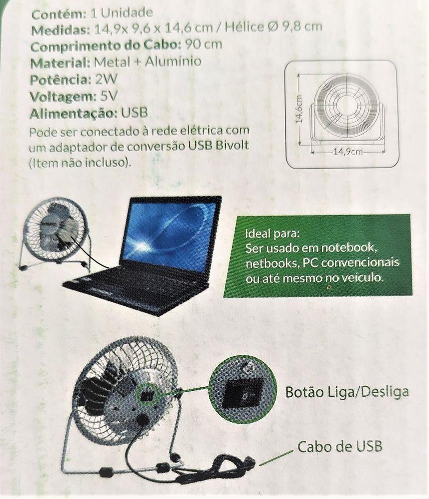 """Mini Ventilador De Mesa USB Alfacell 4"""""""