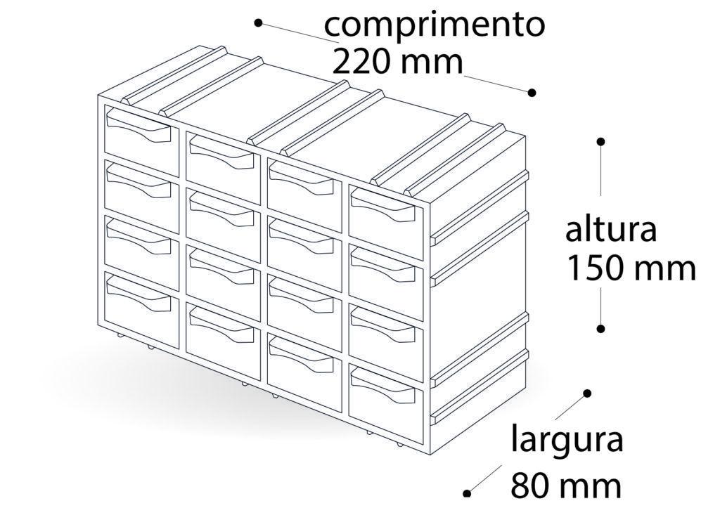 Organizador Arqplast Gaveteiro 7001 Modulavel