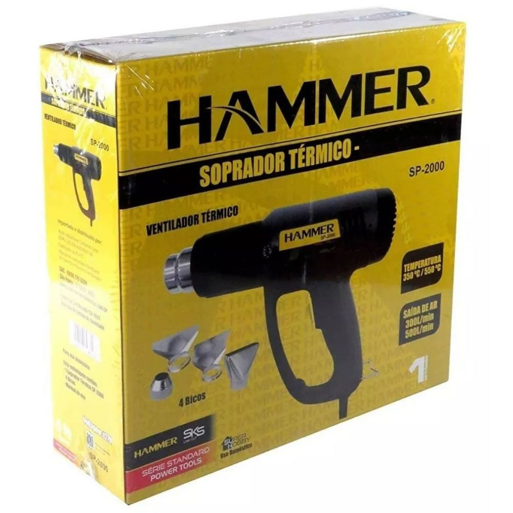 Soprador Térmico Hammer 4 Bicos 1700w 110v