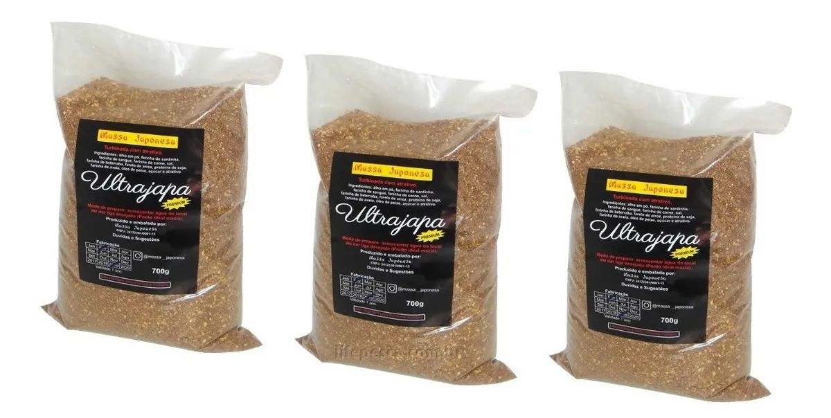 Super Kit 3 Massas Japonesa Ultrajapa Turbinada (3x 700g)